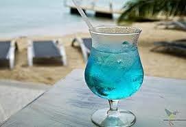 Blue Curaçao cocktail